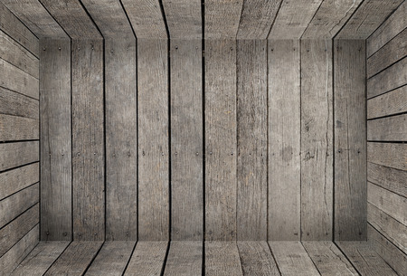Empty wooden plank room box texture for product display