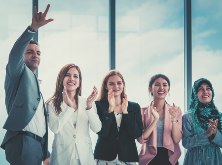 Diverse Business team is clapping for success Stock Photo