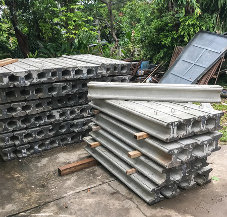 Concrete pile for house building foundation support