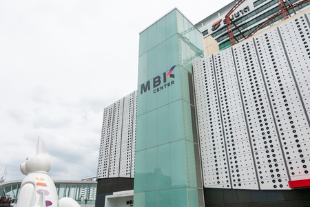 Bangkok, Thailand - August 7, 2018: MBK Center is the indoor market for cheap products and food in Bangkok.