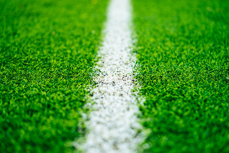 White line on Green grass sport field for sport concept 写真素材