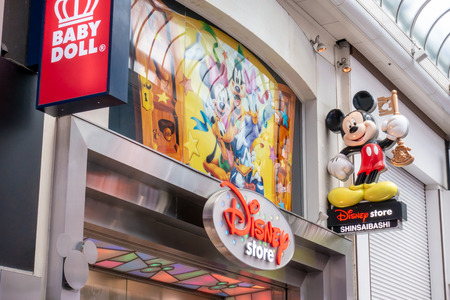 Osaka, Japan - May 26, 2018: Disney store in Classic street of Shinsaibashi, the famous shopping district in Osaka Editorial