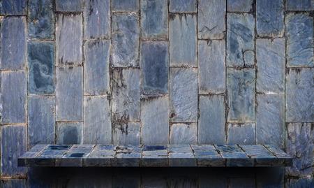Empty rock stone shelf on rock background Stockfoto - 109482312