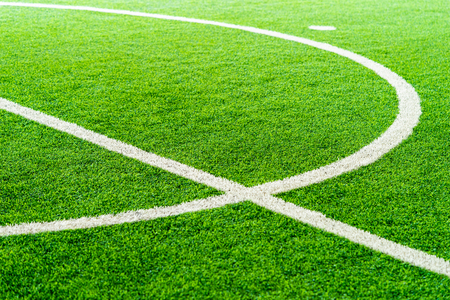 Curve Line of an indoor football soccer training field