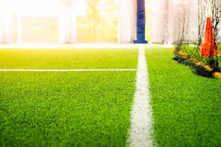 Boundary Line of an indoor football soccer training field 版權商用圖片