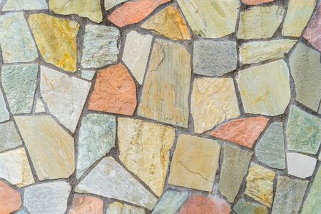 Muro di blocchi di pavimento in piastrelle di pietra per lo sfondo della trama