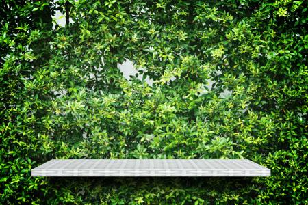 weaver wooden shelf counter garden wall for texture background 写真素材