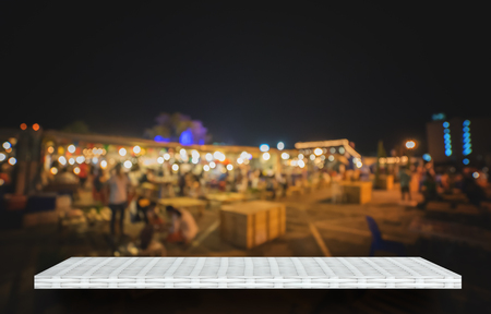 weaver wooden shelf counter night market food street  background 写真素材