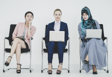 Group of diverse businesswomen working together as a team 写真素材