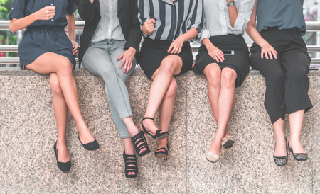Business People woman feet  for business team concept