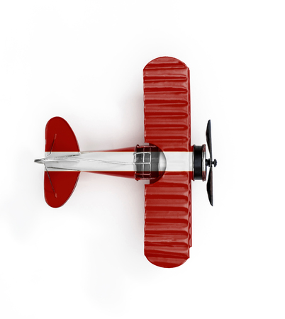 National Flag of Latvia travel Metal toy plane isolated on white Reklamní fotografie