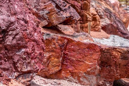 Red Rock layer surface for texture background