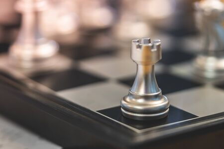 Chess board for business strategy concept
