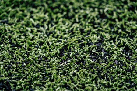 Green Artificial Grass for Sport field Foto de archivo - 129003237