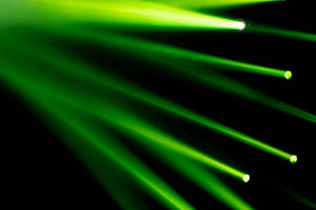 Green concert spot light lay for entertainment show for background backdrop Stok Fotoğraf