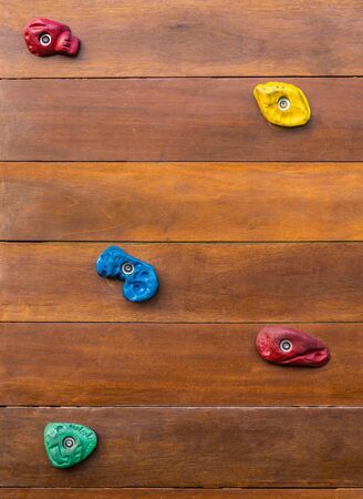Rock Climbing Playground wall board closed up for abstract background and texture 版權商用圖片