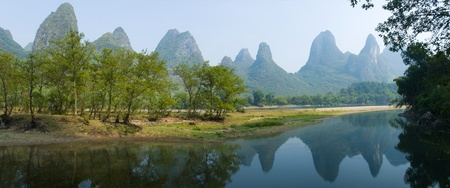 scene in river and mountain of Guilin China photo