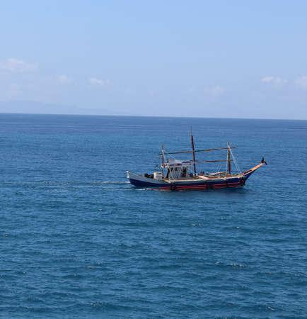motor boat: A Fishing Motor boat