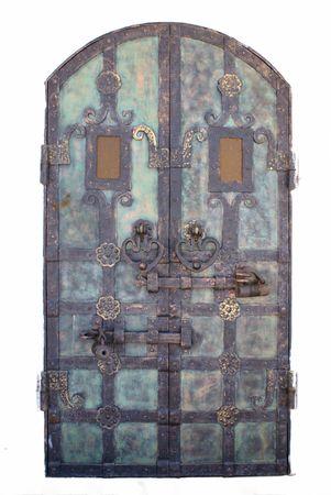 Details of a  wrought  door conventionalized to antiquities  Banco de Imagens