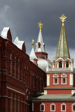 Towers on Red Square, Moscow, Russia    版權商用圖片