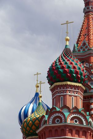 eclecticism: Moscow. Domes and Cupolas of Saint Basils Cathedral on Red Square