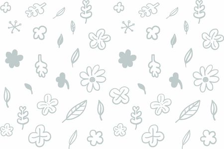 Vector Illustration Flower and leaf pattern on white background