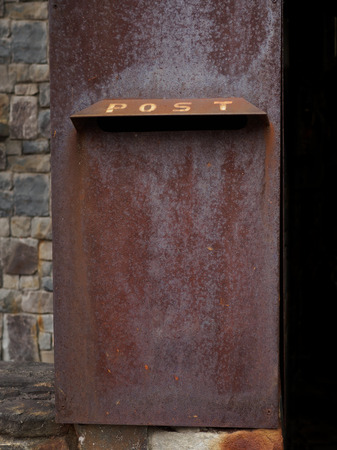 postbox: rusty postbox