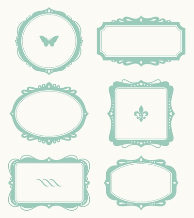 fleur de lis: Vector illustration of a frame set