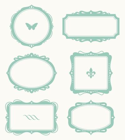 square shape: Vector illustration of a frame set