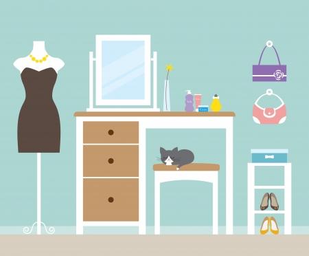 Vector illustratie van een kleedkamer Stock Illustratie