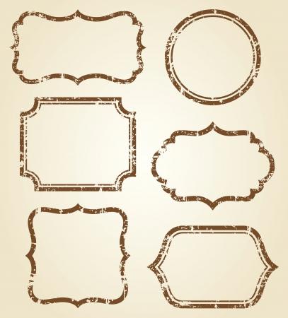 Vector illustration of grunge frames
