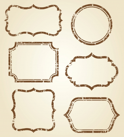 Vector illustration of grunge frames