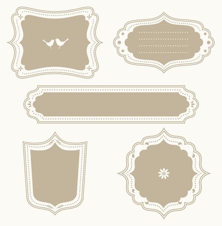 Vector illustration of a frame set