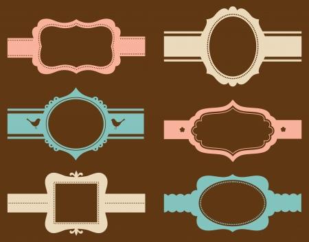 óvalo: ilustración de un conjunto de marcos