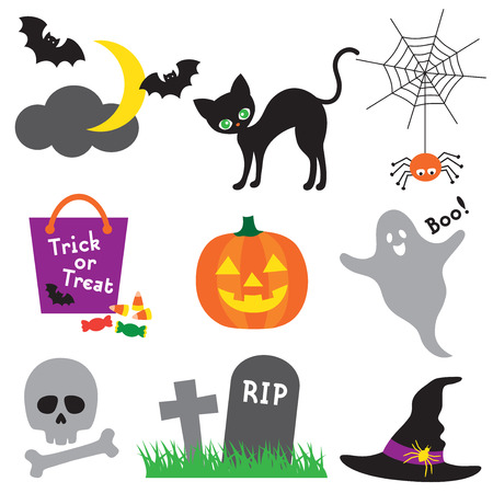 Vector illustration of halloween element set  Vector