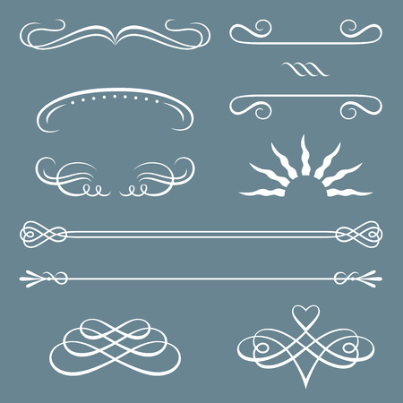 Vector illustration of decorative borders and ornaments