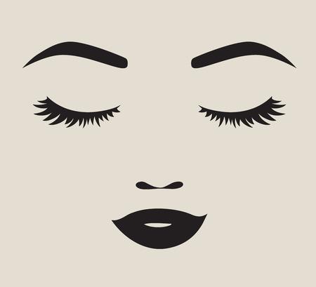 Vrouw gezicht silhouet illustratie Vector Illustratie