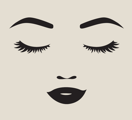 Woman face silhouette illustration 版權商用圖片 - 97109241
