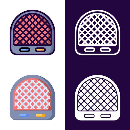 Room Heater Icon Set. filled outline, line, glyph, flat icons
