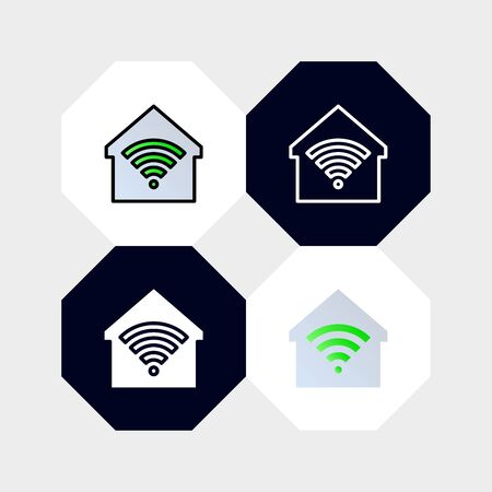Smarthome Icon  Vector Illustration. with four styles, outline, filled outline, flat and glyph. template for website and company
