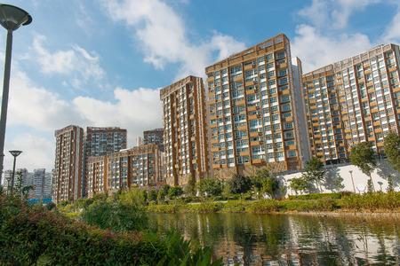 hdb: Up and coming modern housing estate in Punggol, Singapore