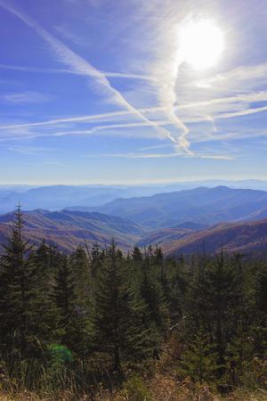 great smokies: Mountain range en route to Clingmans Dome Stock Photo