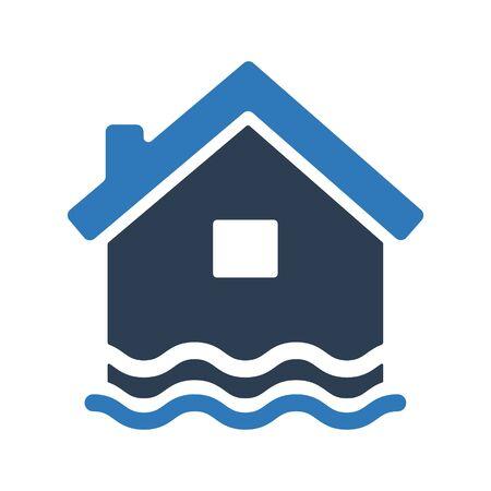 Flood insurance icon, Flood symbol Çizim