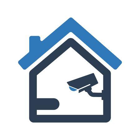 Home Security camera icon, Security camera symbol