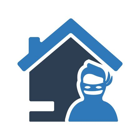 Home thief icon, Thief symbol