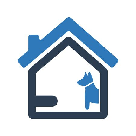 Home dog security icon, Home dog security symbol