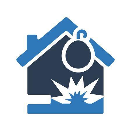 Home explosion icon