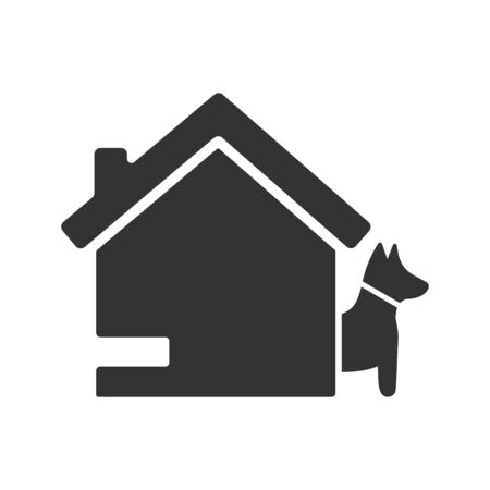 Home dog security icon 向量圖像