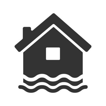 Flood insurance icon