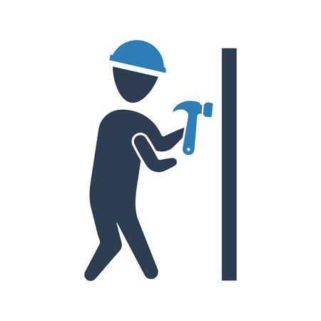 Hammer knocking icon